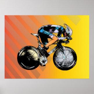 Corredor de la bicicleta poster
