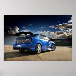 Corredor de la importación - Sti Subaru Póster