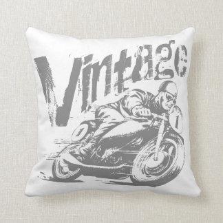 Corredor de la motocicleta del vintage cojín
