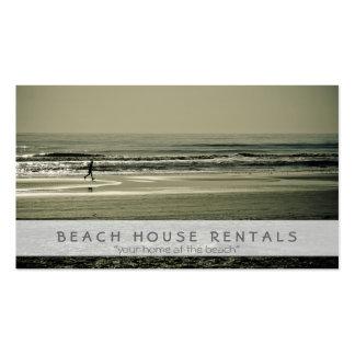 Corredor de la playa tarjetas de visita
