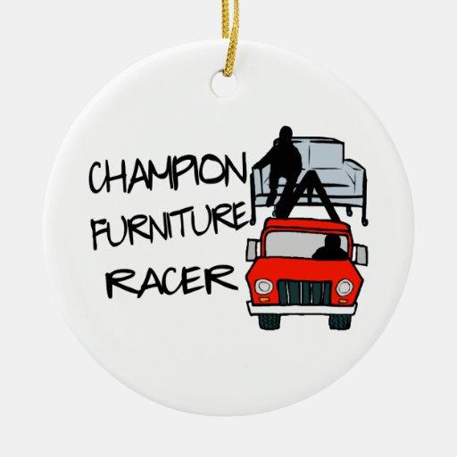 Corredor de los muebles del campeón adorno redondo de cerámica