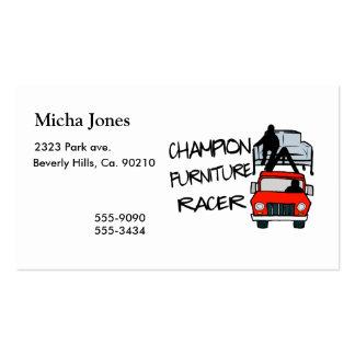 Corredor de los muebles del campeón plantillas de tarjetas de visita