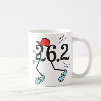 Corredor de maratón divertido 26,2 - regalos para taza básica blanca