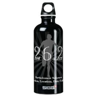 Corredor de maratón personalizado bebida del agua