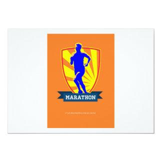 Corredor de maratón que comienza Poster.jpg retro Invitacion Personalizada