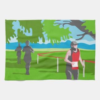 Corredor de maratón que corre WPA Toallas