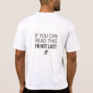 Corredor de maratón si usted puede leer esto camisetas