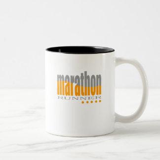 Corredor de maratón taza de café de dos colores