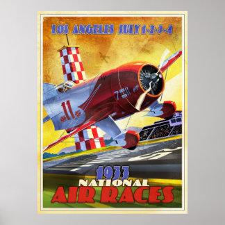 Corredor del aeroplano del vintage poster