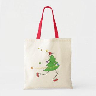 Corredor del árbol de navidad bolsa de mano