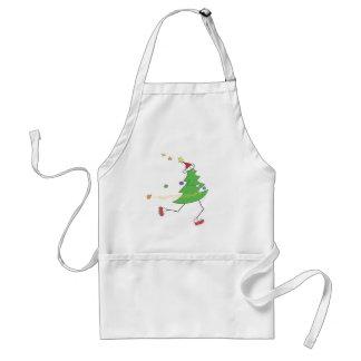 Corredor del árbol de navidad delantal
