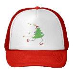 Corredor del árbol de navidad gorras