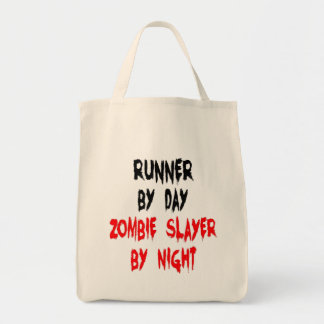Corredor del asesino del zombi bolsa lienzo