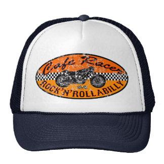 Corredor del café de la motocicleta gorras