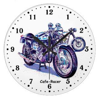 Corredor del café de Tritón Triumph Norton Reloj Redondo Grande