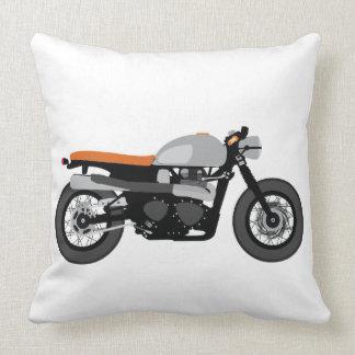 Corredor del café, vintage de la motocicleta de la almohadas