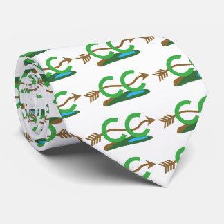 Corredor del campo a través - flecha montañosa corbata personalizada