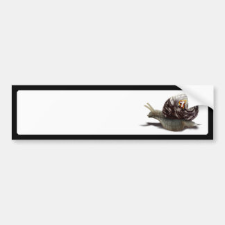 Corredor del caracol - #7 afortunado etiqueta de parachoque