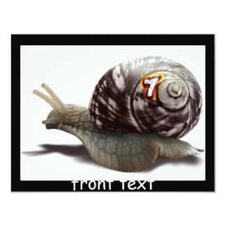 Corredor del caracol - #7 afortunado invitación 10,8 x 13,9 cm