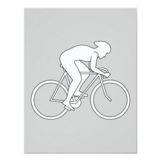 Corredor del ciclista anuncio