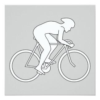 Corredor del ciclista invitaciones personales