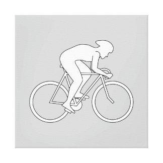 Corredor del ciclista impresiones en lona