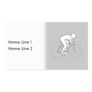 Corredor del ciclista tarjetas de visita