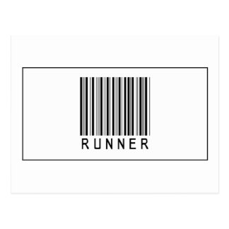 Corredor del código de barras tarjeta postal