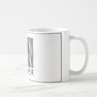 Corredor del código de barras tazas de café