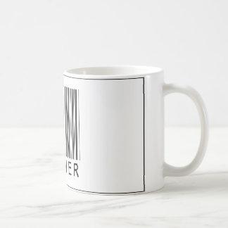 Corredor del código de barras taza básica blanca
