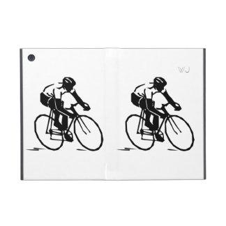Corredor del jinete de la bici en iniciales opcion iPad mini cárcasa