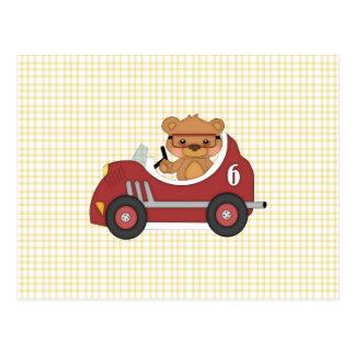 Corredor del oso de peluche red tarjeta postal