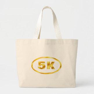corredor del óvalo del oro 5K Bolsa Tela Grande