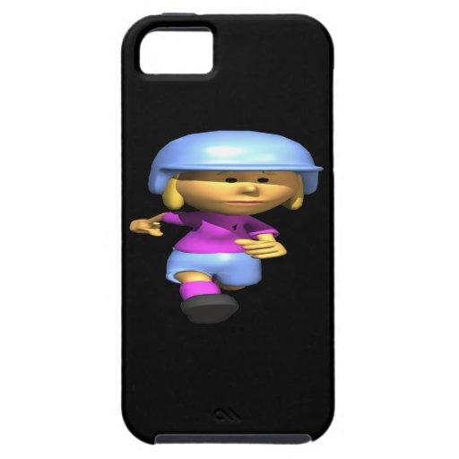 Corredor del softball iPhone 5 carcasas