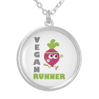 Corredor del vegano - remolacha colgante redondo
