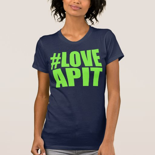 Corredor del verde de la mujer del #LOVEAPIT - el Camiseta