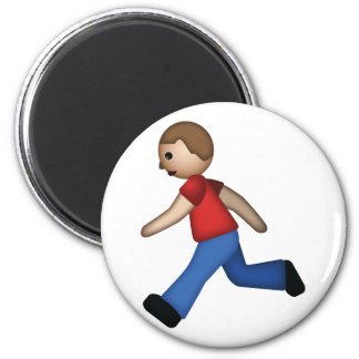 Corredor Emoji Imán Redondo 5 Cm