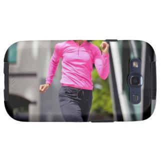 Corredor femenino en Londres Samsung Galaxy S3 Coberturas