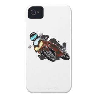 Corredor metálico rojo de la motocicleta iPhone 4 Case-Mate carcasas