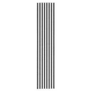 Corredor rayado blanco y negro de la tabla camino de mesa corto