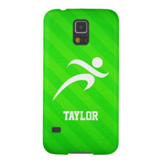 Corredor; Rayas verdes de neón Carcasa De Galaxy S5