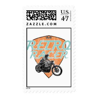 Corredor retro del café timbre postal