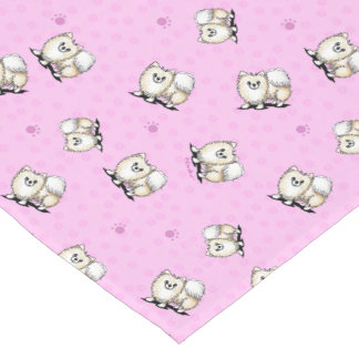 Corredor rosado de la tabla de Pomeranians Camino De Mesa Largo