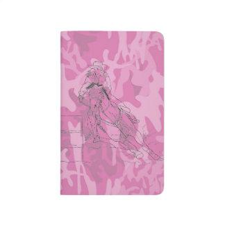 Corredor rosado del barril de Camo Cuadernos