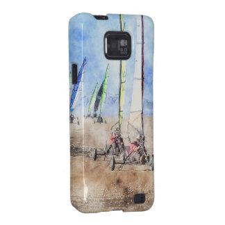 Corredores de Blokart en la playa Samsung Galaxy SII Carcasas
