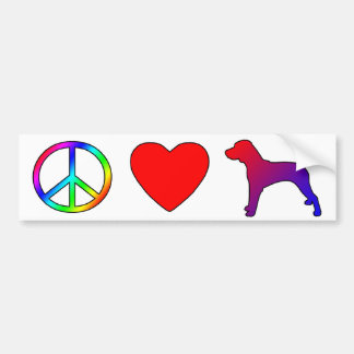 Corredores de cross del amor de la paz pegatina para auto