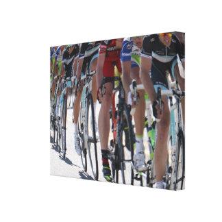 Corredores de la bicicleta impresión en lienzo estirada