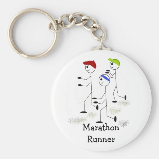 Corredores de maratón llaveros