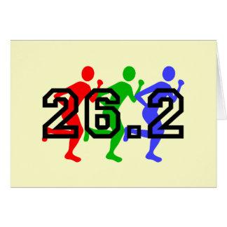 Corredores de maratón tarjetón