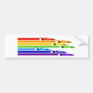 Corredores del arco iris etiqueta de parachoque